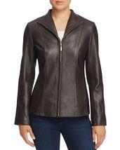 Vertically Padded Front Zip Women's Genuine Soft Lamb Skin Leather biker... - $149.00