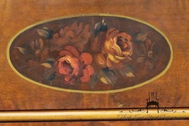 """Antique Country French Floral Painted 48"""" Walnut Dresser w/ Oval Mirror - $219.99"""