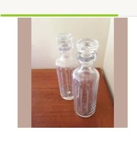"""Set of 2 Global views Portuguese decorative glass bottle with topper 11.5"""" - $199.99"""