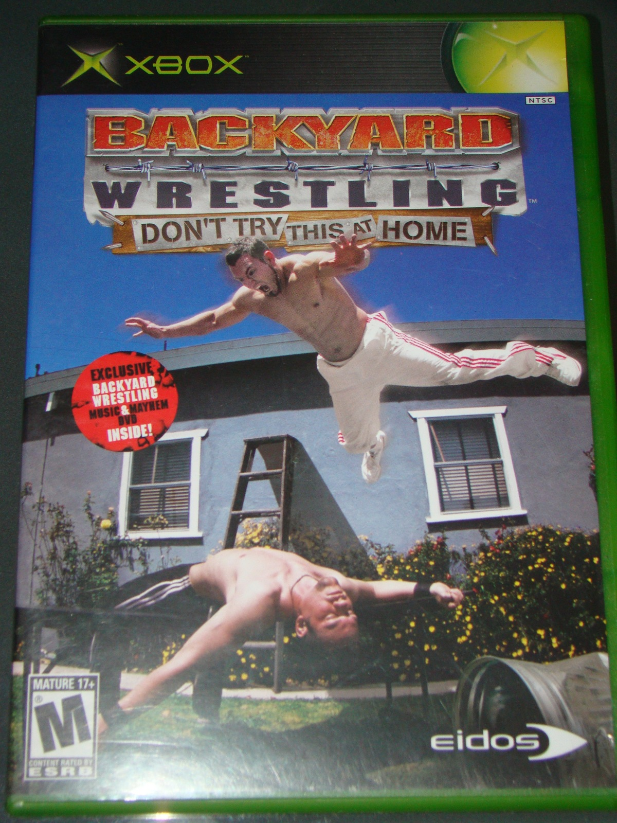 XBOX - BACK YARD WRESTLING - DONT TRY THIS AT HOME (Complete with Instructions) image 7