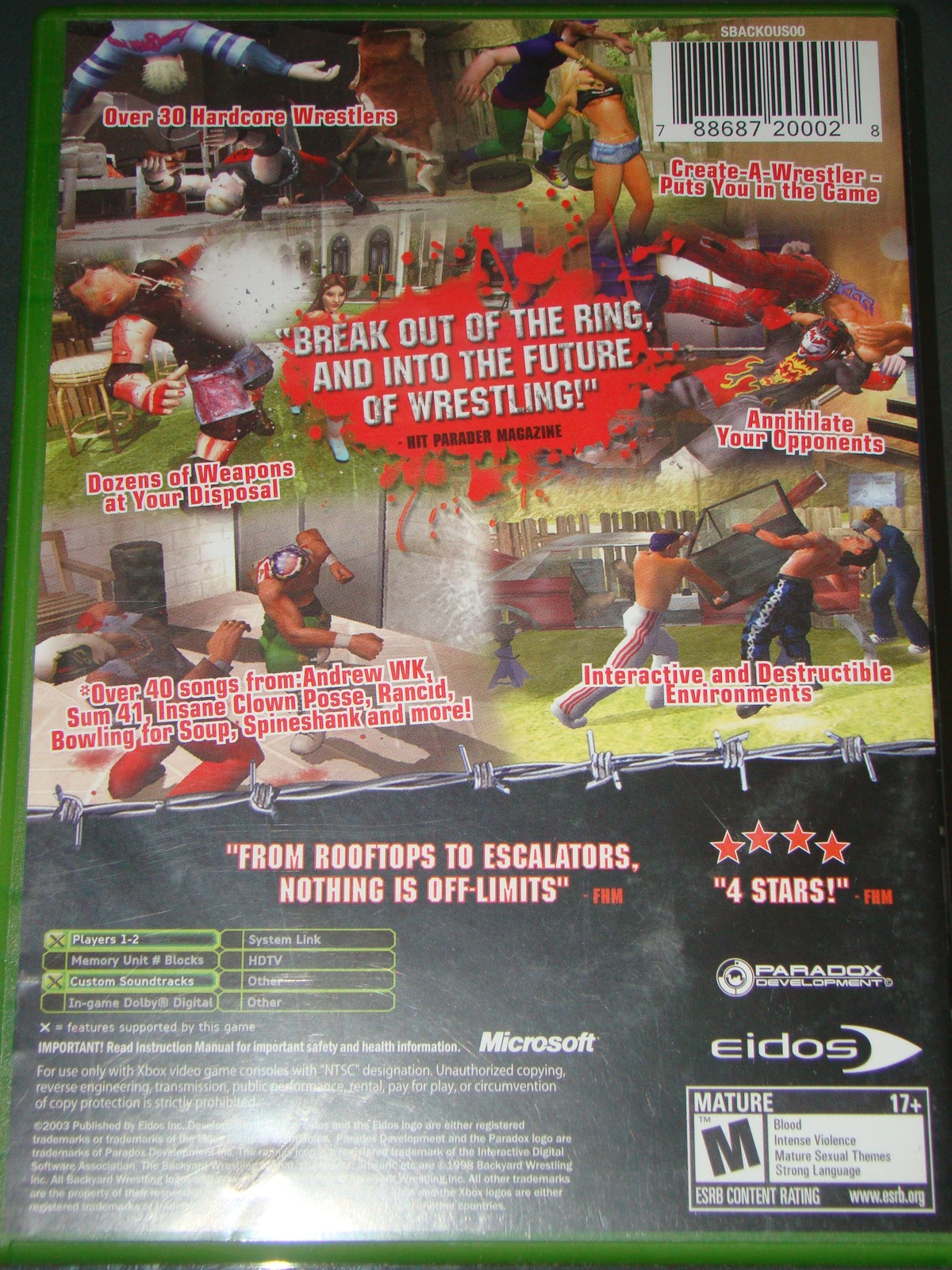 XBOX - BACK YARD WRESTLING - DONT TRY THIS AT HOME (Complete with Instructions) image 8