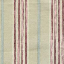 Longaberger Basket Handle Gripper Tan Awning Stripe Fabric Button Style New - $11.83