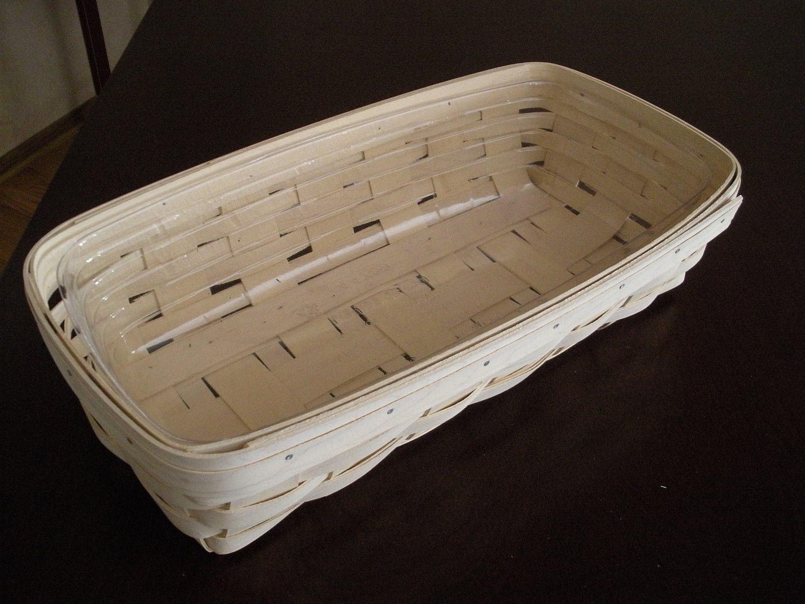 Longaberger Bread Basket Wooden Divider Only Natural Stain New In Plastic