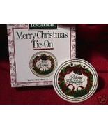 Longaberger Basket Tie On Merry Christmas Pottery New In Original Box Au... - $8.86