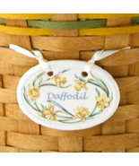 Longaberger Basket Tie On Daffodil May Flower New In Box Pottery - $9.85