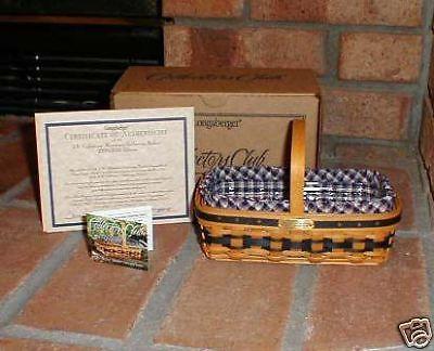 Longaberger Authentic JW Miniature Gathering Basket Plastic Protector Only New image 2