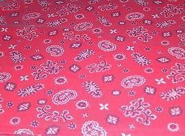 Longaberger Basket Handle Tie Small Red & White Bandana Fabric New In Bag
