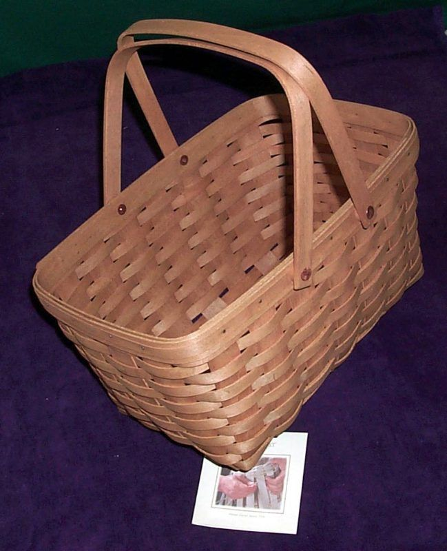 Longaberger Medium Market Basket Indigo Blue Fabric OE Liner 2 Handles New
