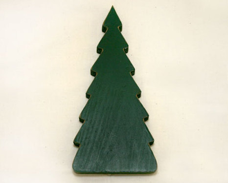 Wooden christmas tree cutout shelf sitter other for Wooden christmas cutouts