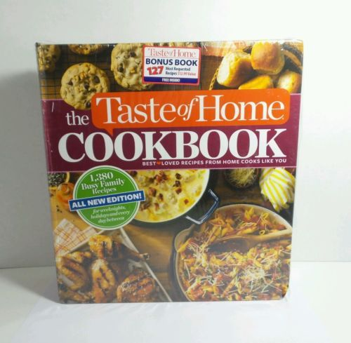 TASTE OF HOME COOKBOOK 1,380 BUSY FAMILY RECIPES BONUS BOOK INCLUDED