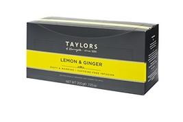 Taylors of Harrogate Lemon & Ginger Herbal Tea, 100 Count Pack of 1