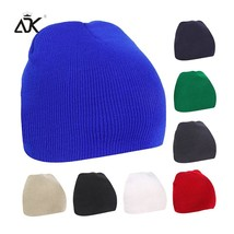 8 Colors Solid Knitted Hat For Women Men  Autumn Winter Beanie Cap Unise... - $10.44