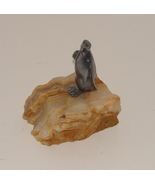 Pewter Penguin on  Onyx Base  Figurine Paperweight - $14.99