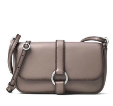 Michael Kors Quincy Large Phone Crossbody Bag in Cinder - Calfskin Leather New - $89.99