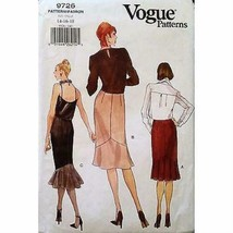 Misses Skirt Vogue 9726 Pattern 1997 Size 14 16 18 Semi Fitted Flounce c... - $3.99