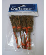 """WHOLESALE LOT 48 MINIATURE ROUND PINE 3"""" BROOMS WICCA CRAFTS BESOMS Free... - $19.59"""