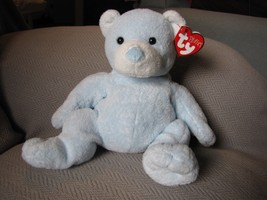 "TY PLUFFIES 2003 Plush 10"" TEDDY BEAR~Tinker~PASTEL BLUE TyLux Baby Love... - $24.44"
