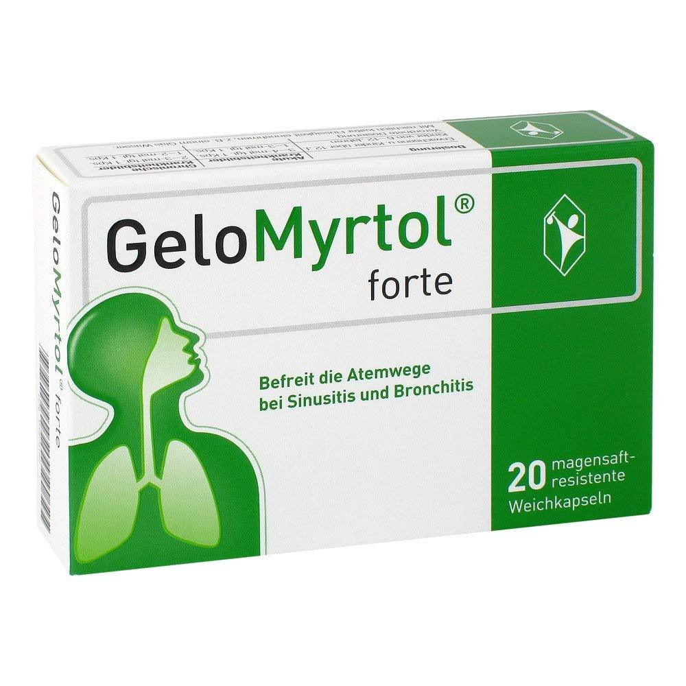 GeloMyrtol FORTE 300mg TREATMENT OF CHRONIC BRONCHITIS AND ACUTE SINUS x20 caps