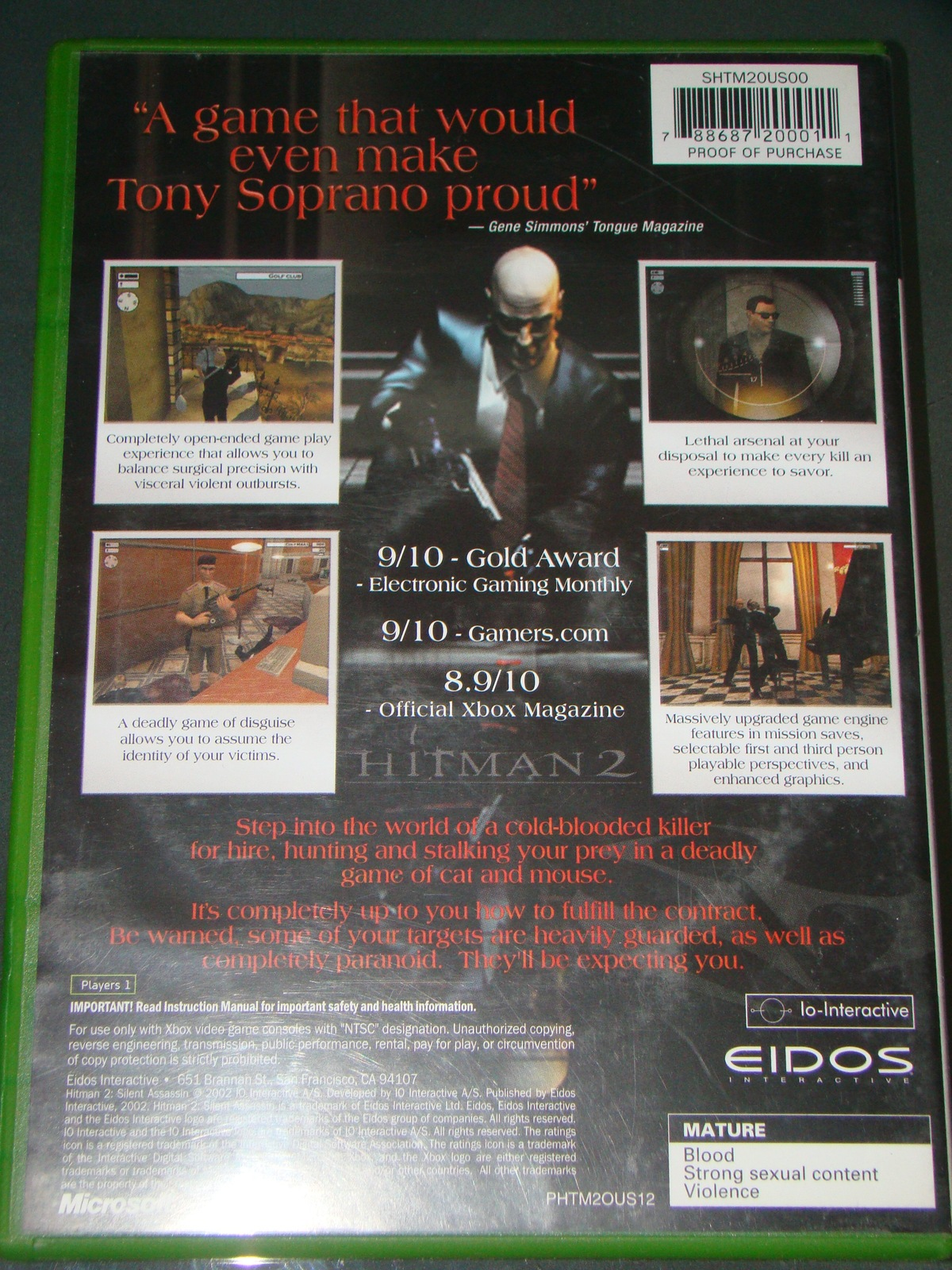 XBOX - HIT MAN 2 - SILENT ASSASSIN (Complete with Instructions) image 2