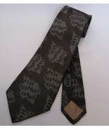 Designer mens silk tie necktie giorgio armani gray blue brown thumbtall