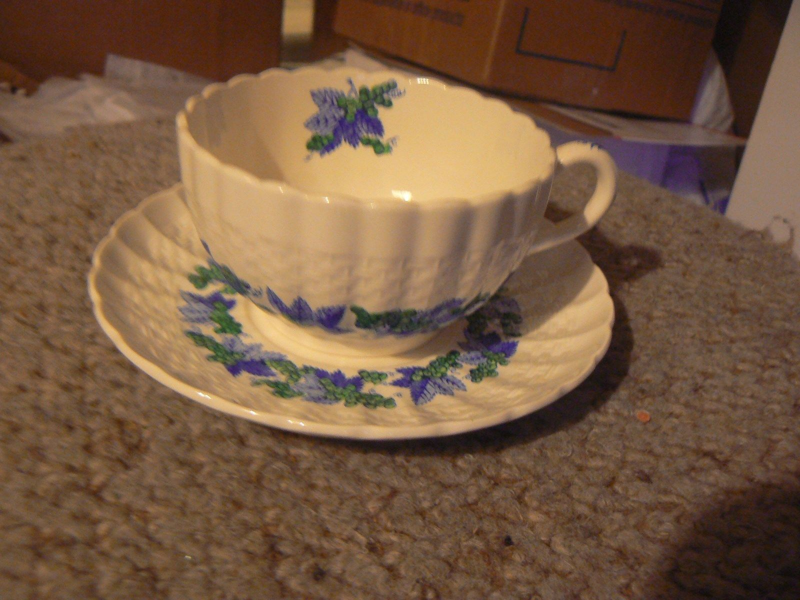 Copeland cup and saucer (Valencia s1248) 6 available