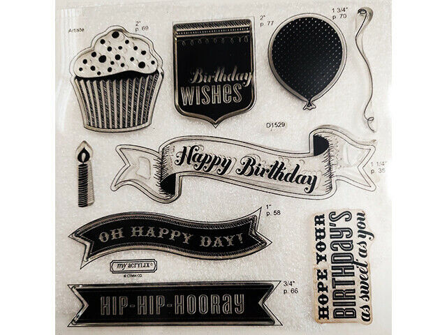 Close to My Heart Birthday Collection Stamp Set #D1529