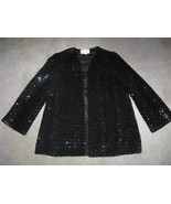 Ladies Black Sequined Dinner Jacket Med-Lg - $50.00