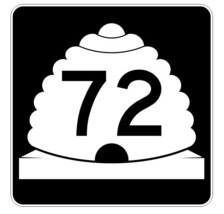 Utah State Highway 72 Sticker Decal R5406 Highway Route Sign - $1.45+