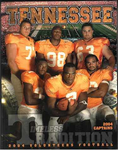 Tennessee Volunteers 2004 College Football Official Media Guide/Program- excelle