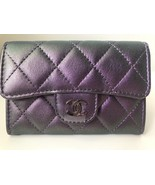 CHANEL Iridescent Purple Mermaid O-Card Holder O-Case Wallet NEW WITH BOX - $915.75