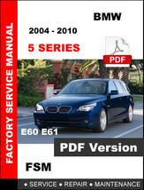 Bmw 5 Series 2004 2005 2006 2007 2008 2009 2010 E60 E61 Service Factory Manual - $14.95