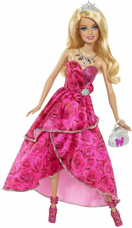 Mattel 2013 Happy Birthday Fairytale Princess Doll Barbie Rare Pink Tiara  - $49.50