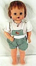 Vintage Doll Drink Wet Red Hair Blue Sleepy Eyes 1973  - $37.57