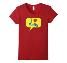 I Love (heart) dog cat pet MOLLY t-shirt Women - $19.95+
