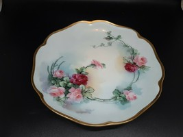 "Rosenthal Selb Madeline handpainted Roses HEAVY GILT PERFECT condition 8"" - $65.00"