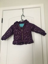 Cherokee Infant Baby Girls Lined Star Patterned Coat Sz 18M MultiColor  - $57.60