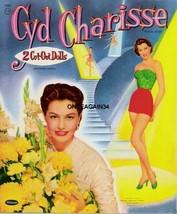 VINTAGE UNCUT 1956 CYD CHARISSE PAPER DOLLS~#1 REPRODUCTION~WONDERFUL RA... - $18.99