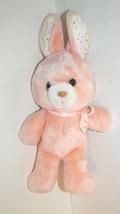 Animal Fair vintage plush Peach light orange bunny rabbit polka dot ears... - $19.79