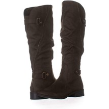 White Mountain Leto Slouch Knee High Boots 696, Coffee, 7.5 US - $30.71