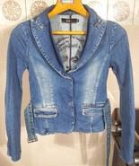 """RARE! ICEBERG Women Blue Denim Jacket Size S """"BAD GIRL"""" MARILYN MONROE I... - $186.07"""