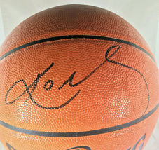 KOBE BRYANT / NBA HALL OF FAME / AUTOGRAPHED FULL SIZE NBA LOGO BASKETBALL / COA image 2