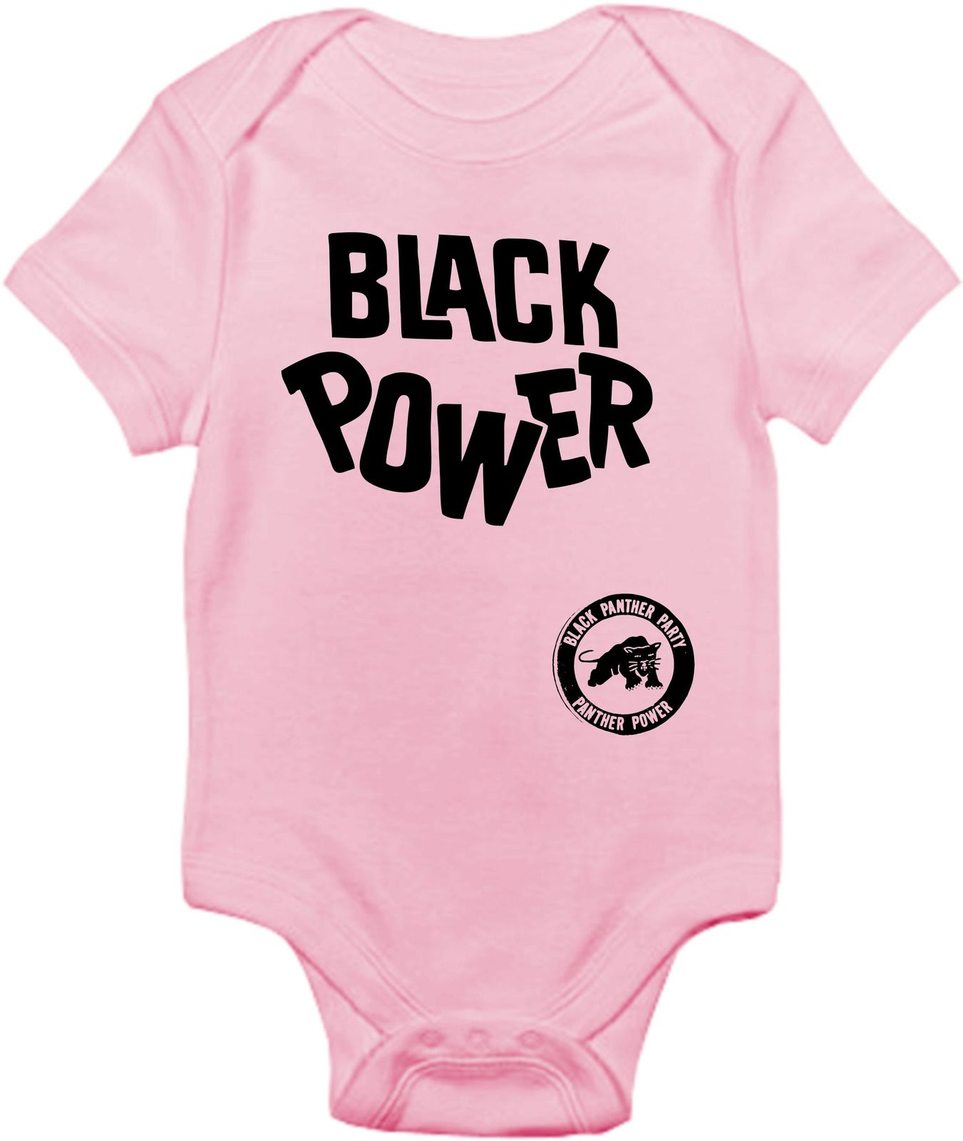 Black Power Pink Onesie  Black Ink