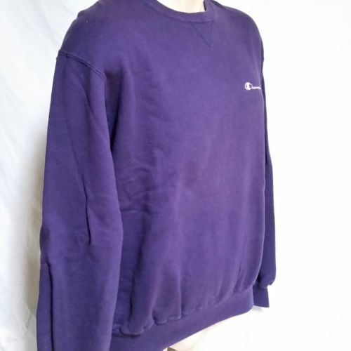 VTG Champion Sweatshirt Embroidered Spell Out Jumper USA Sport 90s Crew Neck XL image 6