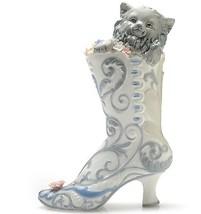 "Sorelle Smitten Kitten"" 11"" Porcelain Hand-Crafted Figurine - $29.69"