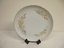 Autumn Wheat Salad Plate Fine China Lot of 8 Lovely - $46.74