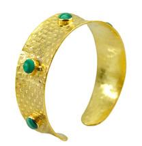 bewitching Multi Gemstone Gold Plated Multi Bangle genuine gemstones US gift - $21.77