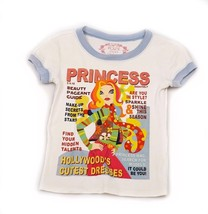 The Childrens Place Princess Ivory Short Sleeve Top Hollywood Fashion 5 6 - $4.94