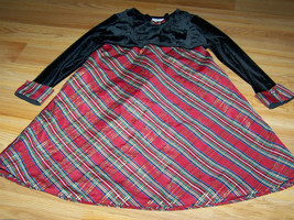 Girl's Size 4 Red Black Plaid Holiday Christmas Dress Velour Bodice Geor... - $18.00