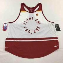USC Trojans Fight On Nike Dri Fit Womens Tank Top White Red Racerback XXL New - $24.70