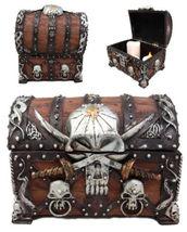 1pcs Pirate Treasure Chest Trinket Octopus Jewelry Box 5.5 Height Figuri... - $49.99